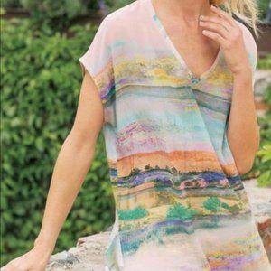 Soft Surrounding Serendipity Silk Landscape Shirt